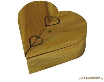 "Secret box heart shaped ""Valentines"" opening."