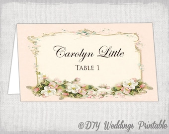 Greenery Place Card Template Printable Place Cards Wedding - Wedding place card template word