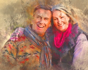 Custom Portrait, Painting From Photo, Watercolor, Digital Painting, Custom Art, Custom Watercolor