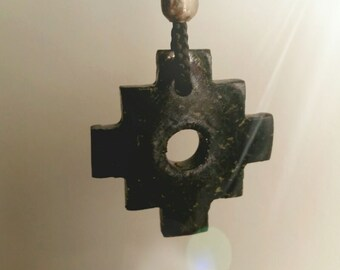 Hand Carved Chakana Necklace