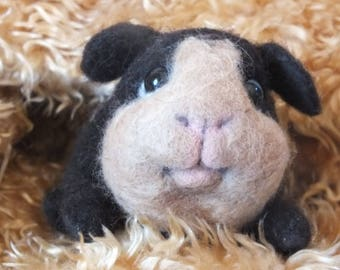 Guinea pig, needle felted, cuddly animal