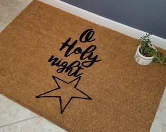 Door Mats / Custom Doormat / Welcome Mat / Gift Ideas /  Personalized Doormat / Unique Gifts / Religious Doormat / Unique Gifts / Star