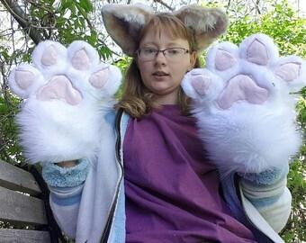 Cute furry fursuit paws