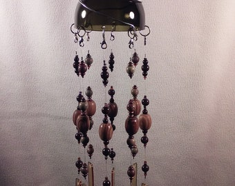 Stained glass beaded windchime
