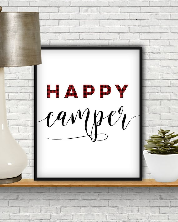Happy Camper Sign SVG Decor Clipart Clip Art Print