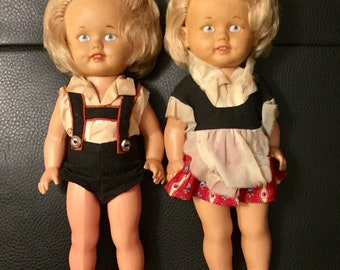 50s Rare West German Twin Baby Dolls