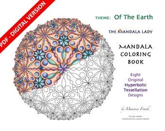 Of The Earth DIGITAL Mandala Coloring Book - PDF VERSION