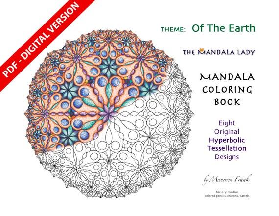 Of The Earth DIGITAL Mandala Coloring Book PDF VERSION