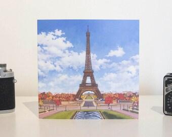 Greeting Card: La Tour Eiffel, Paris