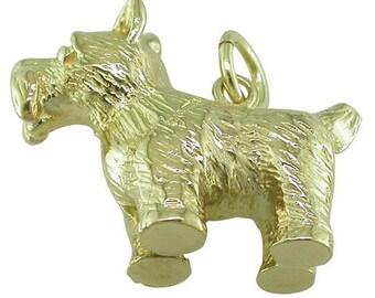 Gold Dog Charm