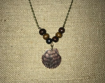 Shell and bead necklace