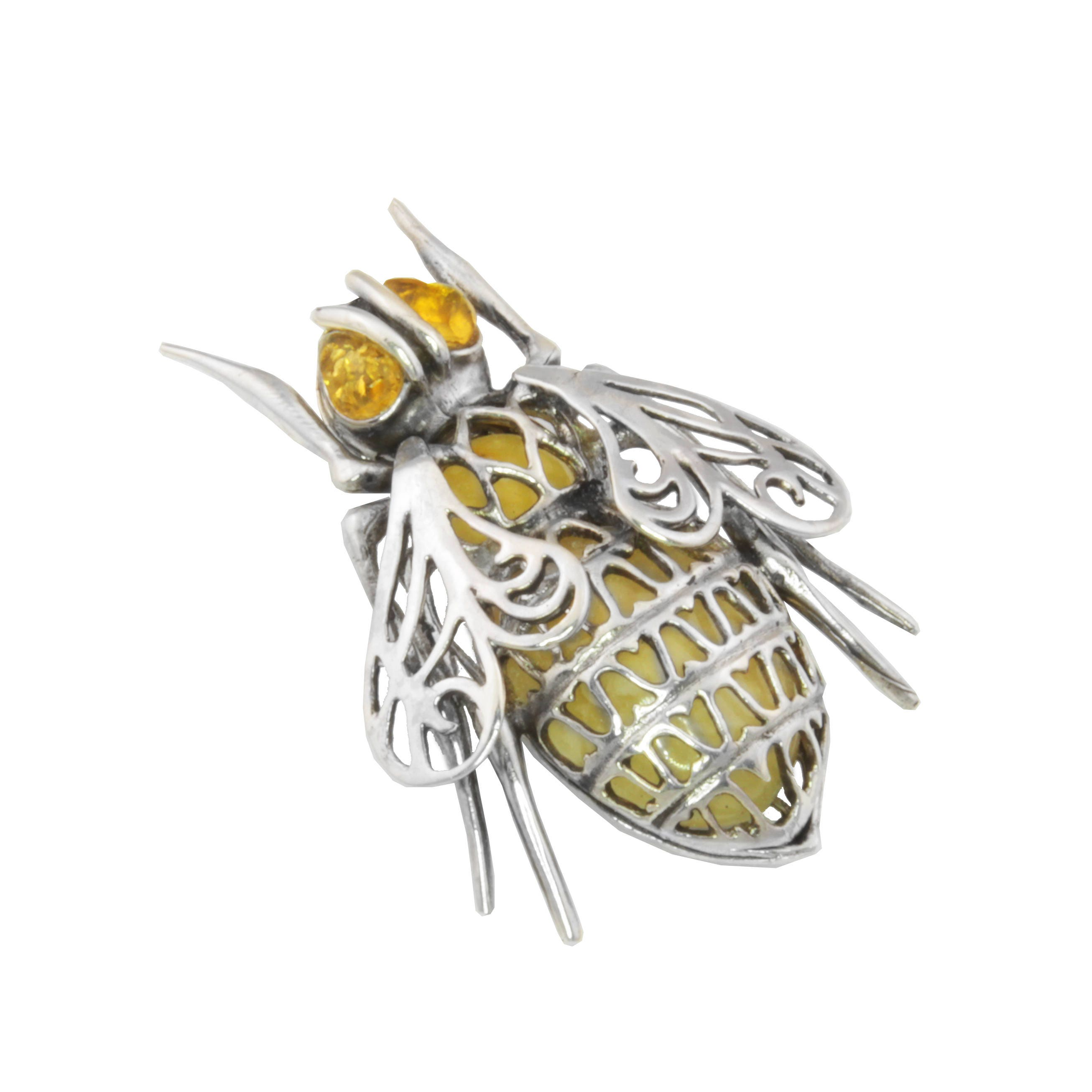 il silver necklace bumble pendant fullxfull honey bee listing