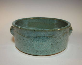 Casserole Serving Baking Ovenware Dish - Large - Speckled Aqua - Handmade Pottery