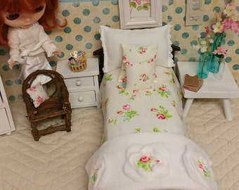 11 inch  Doll Bedding Shabby Chic  Style, 1/6 scale