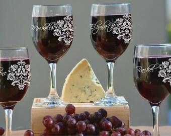Bridesmaids Gift, Bridesmaid Wine Glasses, Bridesmaid Gifts, Wedding Gift, Bridal Party Gifts, Maid of Honor, Bridesmaid, Bridal Shower Gift