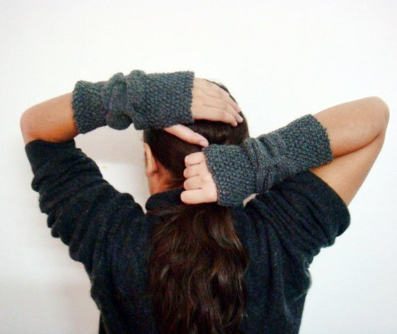 Fingerless Gloves Knitting Pattern Cable Knit Arm Warmers Pattern