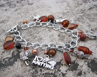 Charm Bracelet for Knitters and Spinners