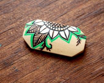 Henna Inspired Tube Bead