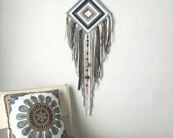 Bohemian tapestry, weaving mandala, god's eye dreamcatcher, ojo de dios, nursery wall hanging, woven mandala, boho bedroom decor