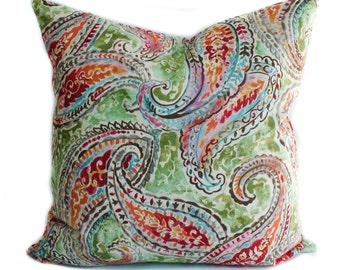 Throw pillow covers, Decorative pillows, Couch cushions, Sofa pillow, Paisley pillows, Shams, 16x16, 18x18, 20x20, 22x22, 24x24, 26x26