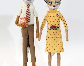 Fantastic Mr. Fox - Art Dolls - original art - figurative art - collectible doll -