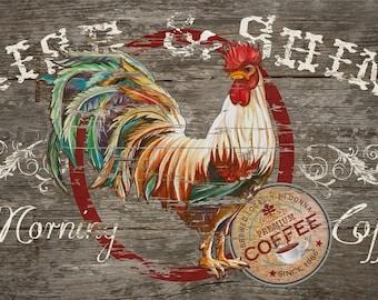 Rise and Shine Coffee Barn Board Print