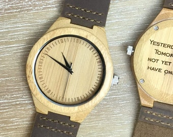 Engraved Watch Engraved Wood Watch Personalized Watch