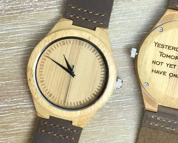 wood watch engraved wood watch personalized watch