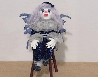 "OOAK Art Doll, ""Moonbeam"", Fairy of the Night Sky, by Sherry Harrison"