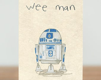 Robot birthday card etsy stars are braw greeting cards wee man sci fi star wars bookmarktalkfo Choice Image