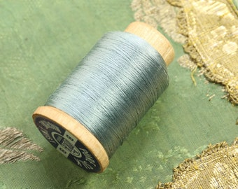1 Large spool pure silk thread 368 size B bead cord jewelry sewing projects pale blue shade 390 yards Utica
