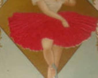 SALE Wonderful Vintage Silk Postcard (Ballerina)