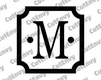 Elegant Square Frame Monogram SVG Cut Files