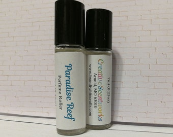 Paradise Reef Scented Perfume Roller, Roll-On Perfume, Perfume Oil