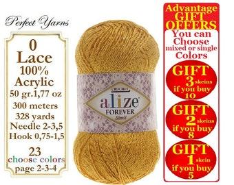 Alize Forever Simli, Crochet Yarn, Glitter yarn,shawl, stocking, sweater, swimsuit, swimwear, vest, wrap, women accessories, women bag, swim
