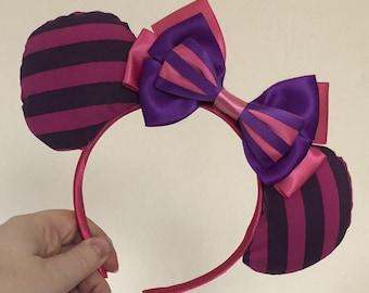 Cheshire Cat (Alice in Wonderland) inspired Mickey/Minnie Disney ears