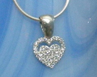 Sale Was 35.00....Valentines Day Love Romance  Heart Necklace
