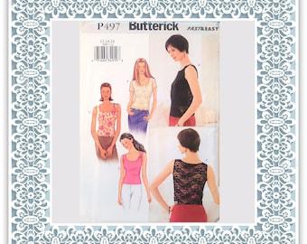 Butterick P497 (2002) Misses' top (with petite option) - Vintage Uncut Sewing Pattern