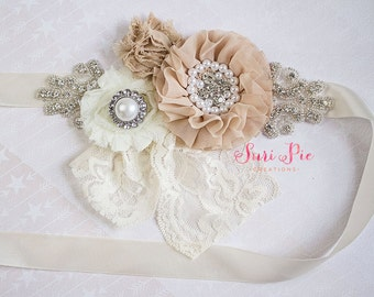 Flower Girl Sash, Rustic Sash, Burlap Sash, Flower Girl Belt, Bridal Belt / Sash, Bridesmaid Sashes, Maternity Sash, Flower Girl Sashes