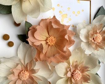 Paper sculpture etsy paper flower art paper sculpture floral art wall decor dahlias mightylinksfo