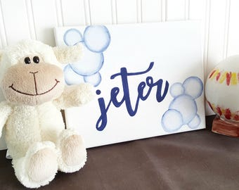Nursery Decor, Personalized Name Signs for Kids, Playroom Decor, Nursery Art, Art for Kids Room, Nursery Room Decor, Bubbles