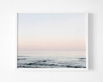 Ocean Print, Ocean Photography, Digital Download, Wave Print, Wave Art, Sea Wall Art, Ocean Printable Art, Blue Wall Art, Surf Print Art