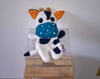Doudou flat cow plush with tags