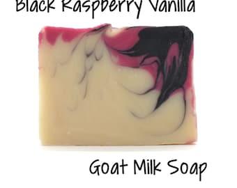 Black Raspberry Vanilla Goats Milk Soap Free Shipping on all orders over 50.00 Dollars