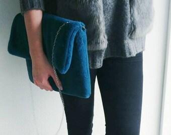 Fur clutch purse
