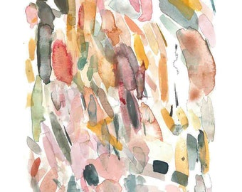 Abstract Painting - Color Palette - Art Print - 11x14in.