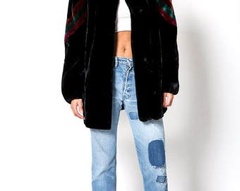 The Chic Plush Faux Fur Vintage Sassoon Jacket