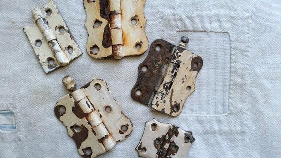 Salvaged Door Hinges Lot of 5 Door Hinges Salvaged Door Hardware Chippy White Door Hinges Industrial Salvage Antique Hinges Farmhouse from ... & Salvaged Door Hinges Lot of 5 Door Hinges Salvaged Door Hardware ...