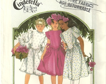 Simplicity 7342 Girls Vintage Puffy Sleeve Princess Bodice Fancy Flower Girl Easter Dress Sewing Pattern Size 12  Cinderella