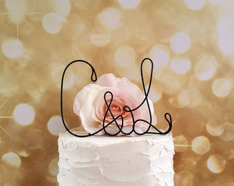 Personalized Initials Wedding Cake Topper, Rustic Wedding Cake Topper,Bridal Shower Cake Topper,Anniversary Cake Topper, Wedding Centerpiece